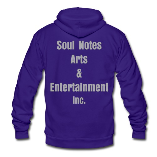 NotedSoul-UNISEX (royalblue/wgrayglit) - Unisex Fleece Zip Hoodie