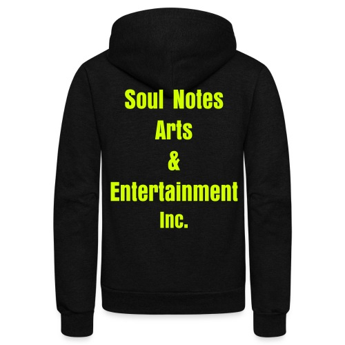 NotedSoul-UNISEX (blackw/neonyell) - Unisex Fleece Zip Hoodie