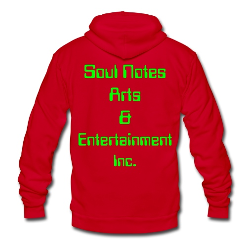 NotedSoul-UNISEX (purpw/neongreen) - Unisex Fleece Zip Hoodie