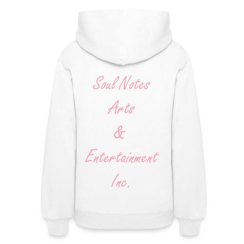 Women's Hooded Sweatshirts (pink w/ white) - Women's Hoodie