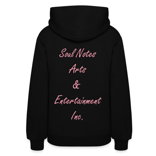 Women's Hooded Sweatshirts (black w/ pink) - Women's Hoodie