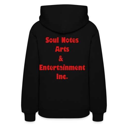 Women's Hooded Sweatshirts (black w/ red hearts) - Women's Hoodie