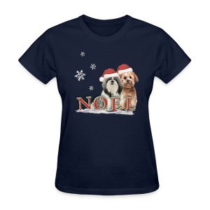 Noel Puppies Christmas t-shirt - Women's T-Shirt