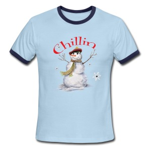 Chillin With My Snowmies - Men's Ringer T-Shirt