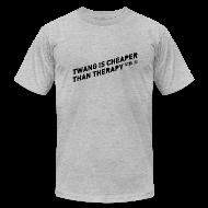 T-Shirts ~ Men's T-Shirt by American Apparel ~ Twangville Slogan Tee