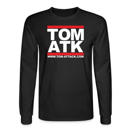 Tom-Attack DMC Men's Long Sleeve Tee Black - Men's Long Sleeve T-Shirt