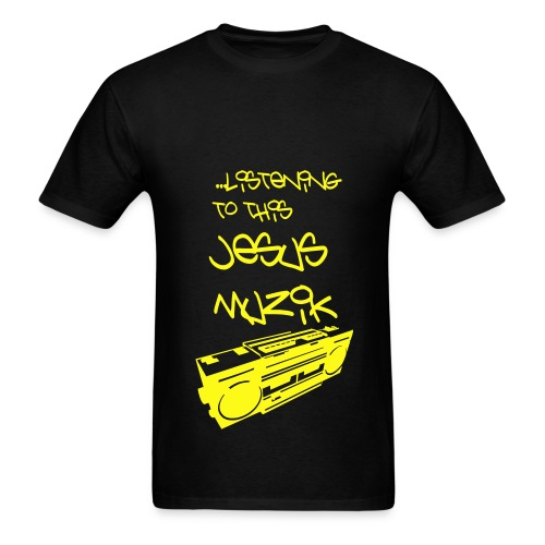 Jesus Muzik (Yellow Ink) - Men's T-Shirt