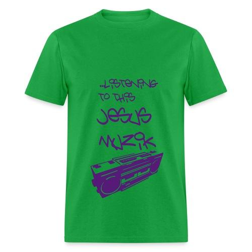 Jesus Muzik (Purple Ink) - Men's T-Shirt