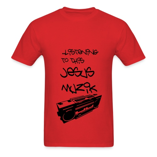 Jesus Muzik (Black Ink) - Men's T-Shirt
