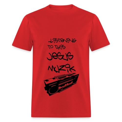 Jesus Muzik (Black Ink) - Men's T-Shirt