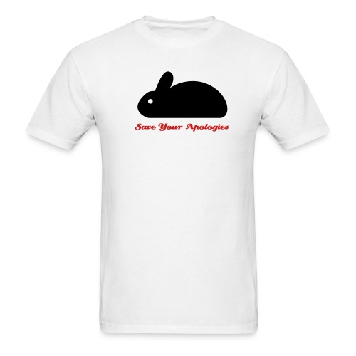 SaveYourApologies RabbitBlackWhite - Men's T-Shirt
