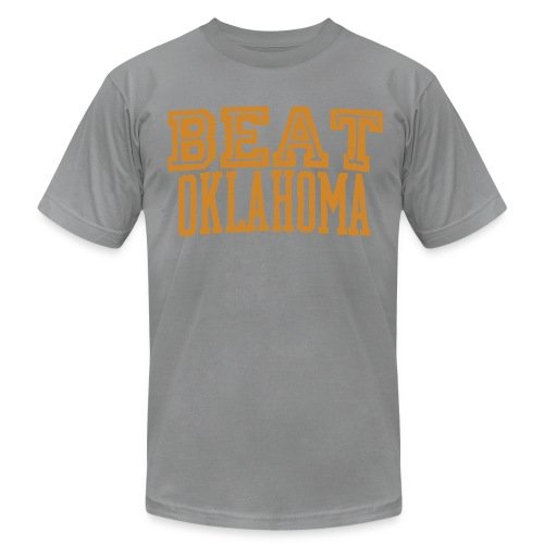 Beat Oklahoma Throwback Tee - Men's Fine Jersey T-Shirt