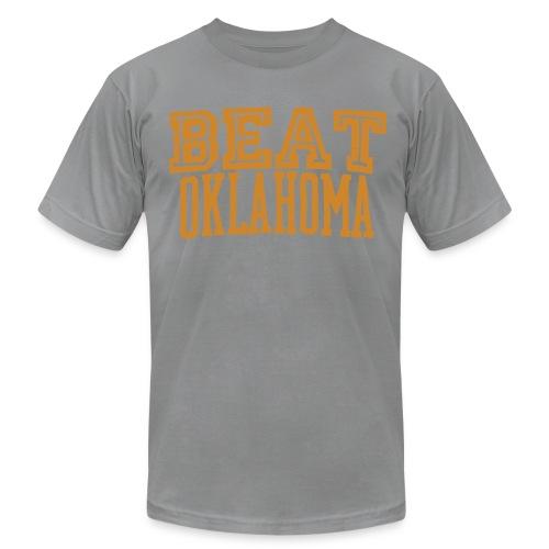 Beat Oklahoma Throwback Tee - Men's Fine Jersey T-Shirt