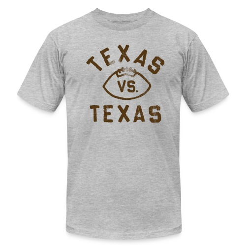 Throwback Texas Vs. Texas Football Tee - Men's Fine Jersey T-Shirt
