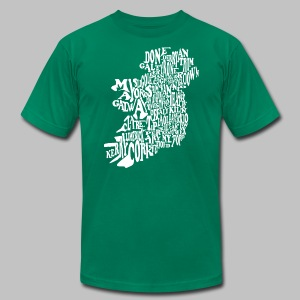 County Name Map - Men's T-Shirt by American Apparel