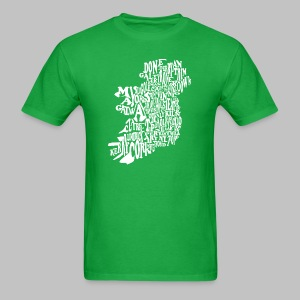 County Name Map - Men's T-Shirt