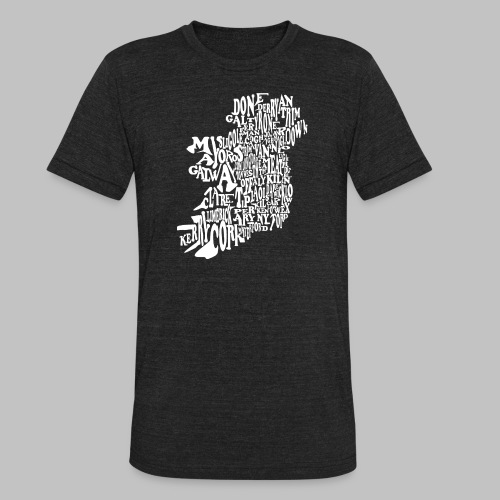 County Name Map - Unisex Tri-Blend T-Shirt by American Apparel