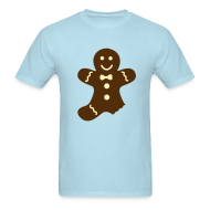 T-Shirts ~ Men's T-Shirt ~ Partially Eaten Gingerbread Man