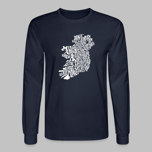 County Name Map - Men's Long Sleeve T-Shirt