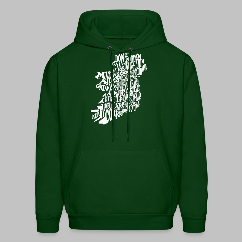 County Name Map - Men's Hoodie