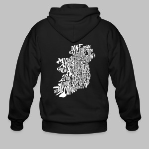 County Name Map - Men's Zip Hoodie