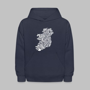 County Name Map - Kids' Hoodie