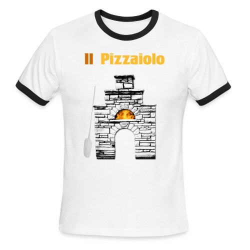 Men's Ringer T-Shirt - FG pizza,Italy,alan scott oven,bread knife,brick oven,brotform,danish dough whisk,f g pizza,fgpizza,gi metal,lame,oven tools,pizza,pizza napoletana,pizza oven tools,pizzaiolo,vera napoletana,woodfire,woodfired,woodfired oven