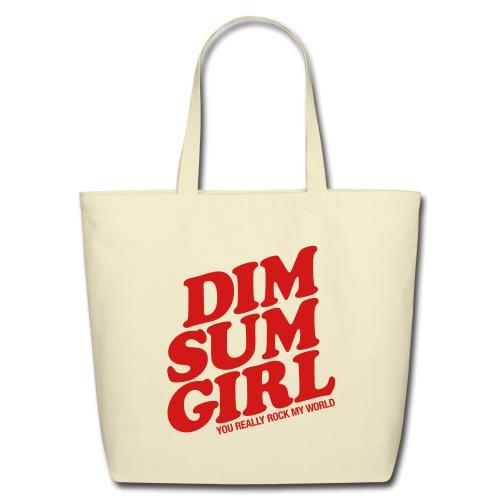 Dim Sum Girl Canvas Tote - Eco-Friendly Cotton Tote