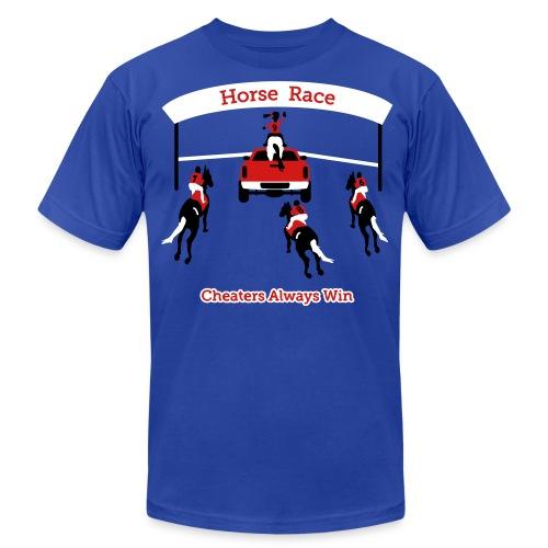Horse Race - Cheaters Always Win - Mens T-Shirt - Men's  Jersey T-Shirt