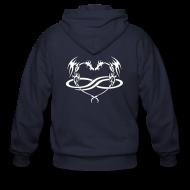 Zip Hoodies & Jackets ~ Men's Zip Hoodie ~ PolyDragon Hoodie