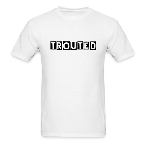 TROUTED Block Text (Black)  - Men's T-Shirt