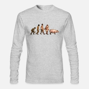 Men's Long Sleeve T-Shirt by Next Level - hi quality digital direct printing