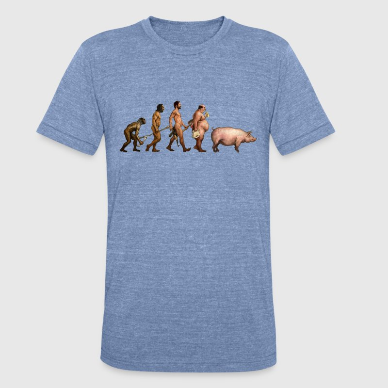 Men Evolution - Unisex Tri-Blend T-Shirt by American Apparel