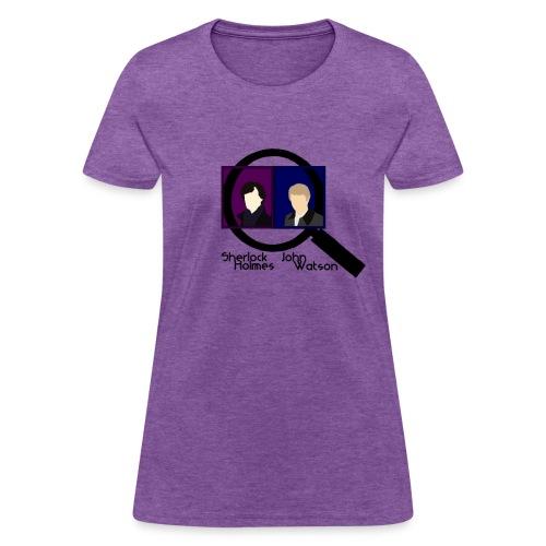 Sherlock and John Microscope (Womens) - Women's T-Shirt