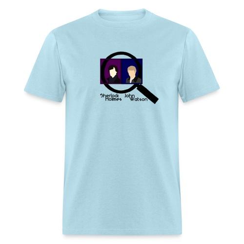 Sherlock and John Microscope (Mens) - Men's T-Shirt