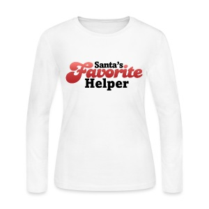 Santas Favorite Helper - Women's Long Sleeve Jersey T-Shirt
