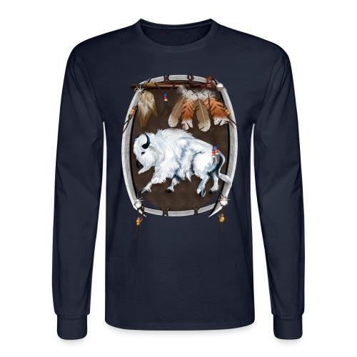 White Buffalo Sheild - Men's Long Sleeve T-Shirt
