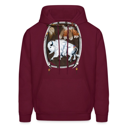 White Buffalo Sheild - Men's Hoodie