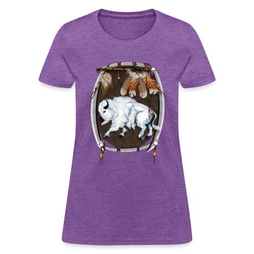 White Buffalo Sheild - Women's T-Shirt