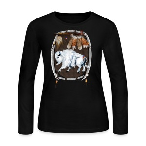 White Buffalo Sheild - Women's Long Sleeve Jersey T-Shirt
