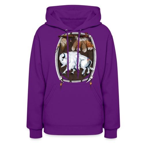 White Buffalo Sheild - Women's Hoodie