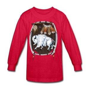 White Buffalo Sheild - Kids' Long Sleeve T-Shirt