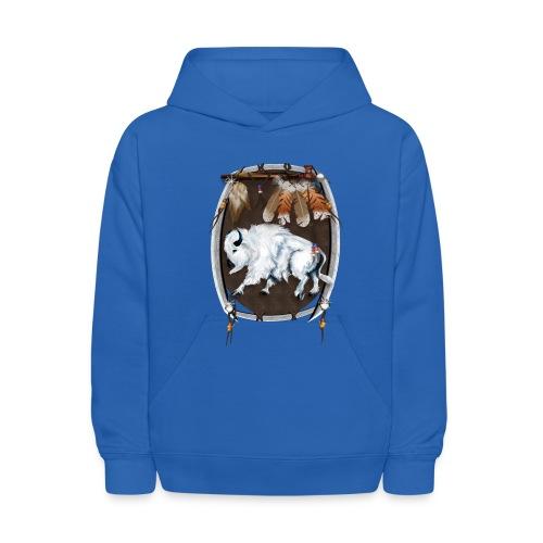 White Buffalo Sheild - Kids' Hoodie