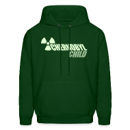 Hoodies ~ Men's Hoodie ~ CHERNOBYL CHILD GLOW-IN-THE-DARK