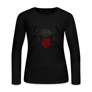 Womens Tribal HeartWings Long sleeve - Women's Long Sleeve Jersey T-Shirt
