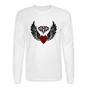 Tribal HeartWings Hoodie - Men's Long Sleeve T-Shirt