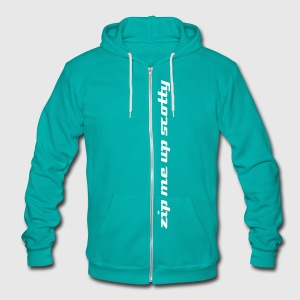 Zip Me Up Scotty  - Unisex Fleece Zip Hoodie by American Apparel