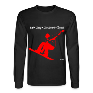 Eat Sleep Snowboard Repeat 002 - red - Men's Long Sleeve T-Shirt