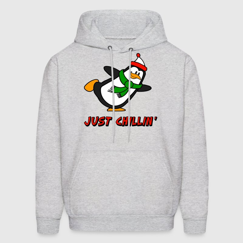 Just Chillin' Penguin Chilly Willy Hoodies - Men's Hoodie
