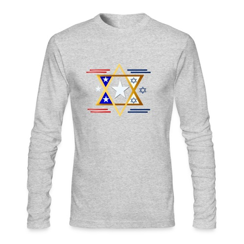 America-Israel - Men's Long Sleeve T-Shirt by Next Level